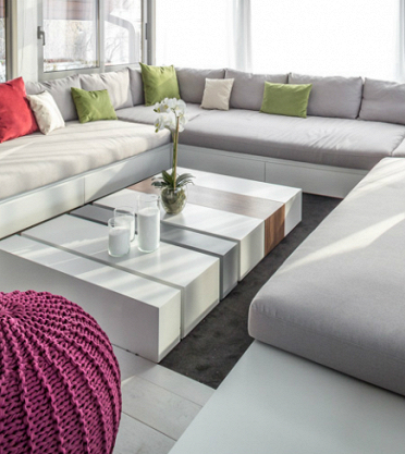 Проект «Панорамная гостиная» при участии Cosmorelax