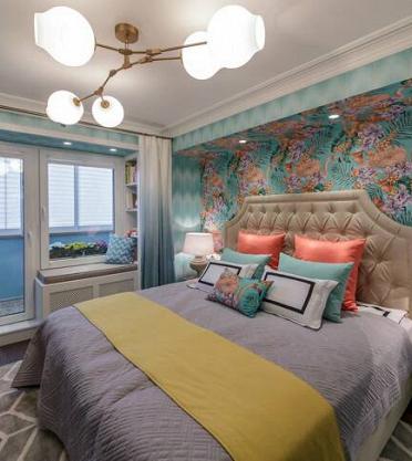 Проект «Спальня с розовыми фламинго» при участии Cosmorelax