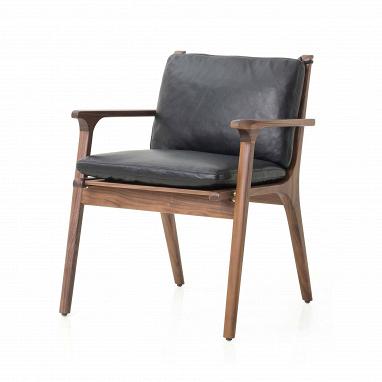 Кресло Ren с кожаной обивкой обеденное