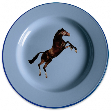 Тарелка Horse эмалированная