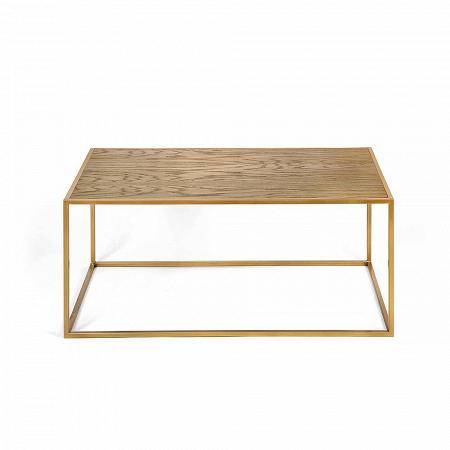 Купить Журнальный стол Darmian into gold темный дуб в интернет-магазине
