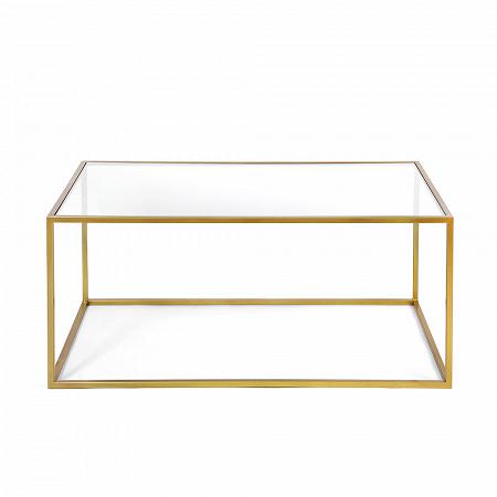 Купить Журнальный стол Darmian into gold прозрачное стекло в интернет-магазине
