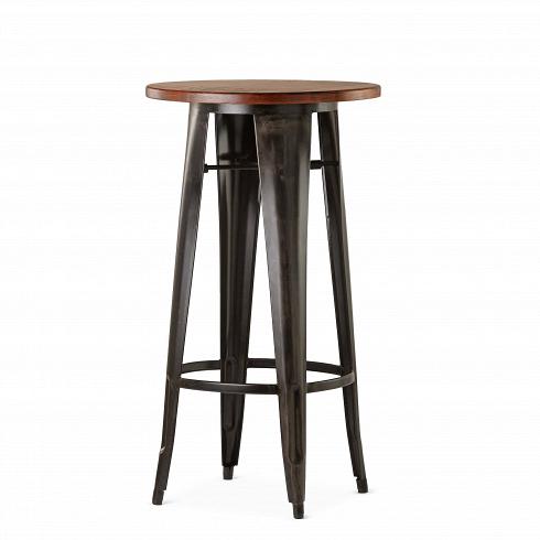 Барный стол Marais VintageБарные<br>В широкий ассортимент коллекции Marais входят столы, кресла и стулья, дизайн который строго выдержан в индустриальном стиле. Стальной каркас, темное патинирование и элементы изнатуральных пород дерева — характерные черты всех моделей коллекции. Благодаря этому они отлично подходят для декорирования домашних и коммерческих интерьеров в стиле лофт или индастриал.<br><br><br> Барный стол Marais Vintage стильно смотрится в интерьере баров, где томное освещение только подчеркивает его ви...<br><br>DESIGNER: Xavier Pauchard