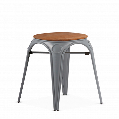 Табурет Louix высота 46Табуреты<br>Все модели мебельной коллекции Louix, которую разработал дизайнер Александр Аразола, выполнены в индустриальном стиле, который получает все большее распространение среди современных европейских интерьеров. Постоянные атрибуты стиля — темная натуральная древесина и металлический каркас, который чаще всего состарен или покрыт краской темного цвета.Индустриальный стиль, самый честный, откровенный, обнаженный. Показать все, что скрыто, — основная задача этого направления. Вся «подноготная» ...<br><br>DESIGNER: Alexandre Arazola