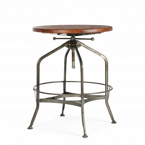 Барный стол Toledo диаметр 60Барные<br>Оригинальный дизайн барного стола Toledo диаметр 60 разработан еще в начале XX столетия. Создатели стола ориентировались на мастерские, производственные цеха и военные учреждения. Вероятно, из-за задумки производителейготовое изделие стало выглядетьв стиле стимпанк — все эти зубцы, острые углыблеск металла говорят именно об этомальтернативном стиле викторианской Англии. Благодаря этому стул представляет собой миксвинтажа исредневекового модерна — микс вечно...<br>