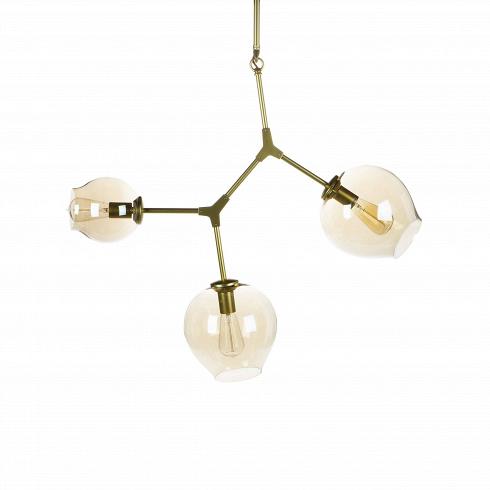Подвесной светильник Branching Bubbles 3 лампыПодвесные<br>Этот подвесной светильник не оставит равнодушными тех, кто стремится привнести частичку природы в свой дом. Он является настоящим хитросплетением форм и материалов: металлические крепления, напоминающие ветки, завершаются выдутыми вручную стеклянными плафонами. Светильник похож на цветущее дерево — это работа американского промышленного дизайнера Линдси Адельман, которая черпает свое вдохновение именно из выразительных природных сочетаний.<br><br><br> Подвесной светильник Branching Bubbles 3 ла...<br><br>DESIGNER: Lindsey Adams Adelman