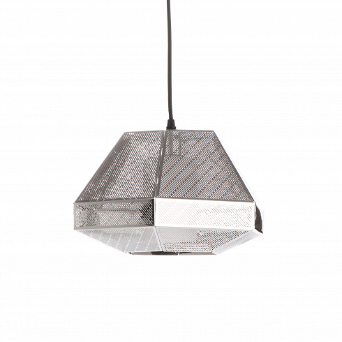 Подвесной светильник Elliot CutПодвесные<br>Элегантный подвесной светильникElliot Cut — это стильный подвесной источник света, абажур которого выполнен в популярном индустриальном стиле. Элементы этого направления также встречаются и в лофт-интерьерах, поскольку для них нередко характерен промышленный дизайн со всей его грубоватой простотой.<br> <br>Абажур светильника представляет собой граненый плафон, металлическая поверхность которого отполирована до зеркального эффекта. Благодаря нержавеющей стали светильник являет собой до...<br>