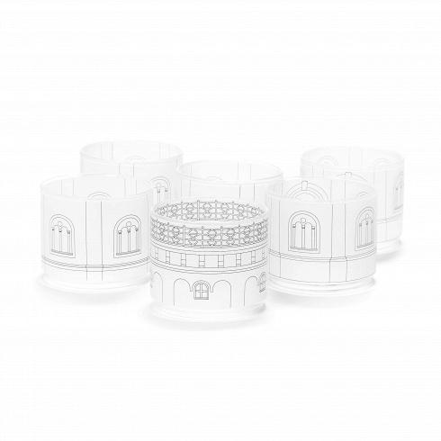 Набор стаканов Torre ScupaПосуда<br>Набор стаканов Torre Scupa — еще один яркий иоригинальный проект, разработанный итальянским дизайнером Алессандро Дзамбелли позаказу компании Seletti. Производитель дизайнерской посуды компания Seletti вочередной раз разрушает стереотипы повседневности ирасширяет границы воображения. Архитектурный модульный сервиз на6 персон выстроен изфарфора встиле Флорентийского ренессанса.<br><br><br> Дворцы ибашни разбираются начашки, стаканы, тарел...<br>