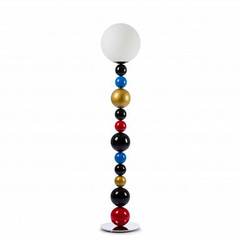 Напольный светильник RBGНапольные<br>Напольный светильник RBG - яркий и стильный вариант, который подойдет тем, кто любит в дизайне яркие и игривые мотивы. <br> <br> Если вы ищете что-то, что с легкостью разбавит ваш интерьер, то этот светильник как раз то, что вам нужно.<br> Благодаря крупной круглой подножке, светильник обладает высокой устойчивостью, несмотря на большую высоту изделия.<br> Плафон лампы выполнен из матового стекла, благодаря чему ее свет мягкий и рассеянный. При таком освещении очень приятно читать, а проводить спокой...<br><br>DESIGNER: Fredrik Mattson