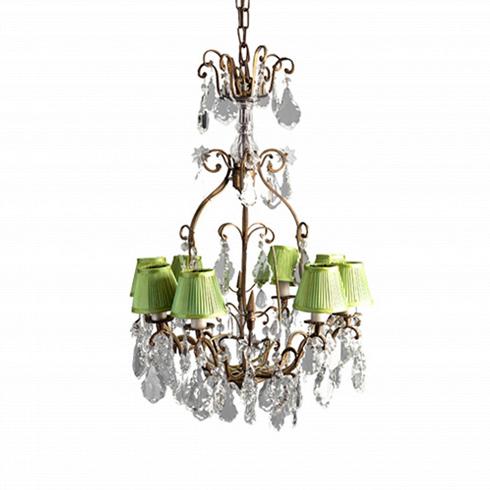 Люстра Бельгиум (BELGIUM)Подвесные<br>ROOMERS – это особенная коллекция, воплощение всего самого лучшего, модного и новаторского в мире дизайнерской мебели, предметов декора и стильных аксессуаров.<br>Интерьерные решения от ROOMERS – всегда актуальны, более того, они - на острие моды. Коллекции ROOMERS тщательно отбираются и обновляются дважды в год специально для вас.<br>Потолочный подвесной светильник, расчитан на 8 свечей (ламп). Изготовлен из металлического каркаса, декорировнного под винтажную латунь, украшен стеклянными подвескам...<br>