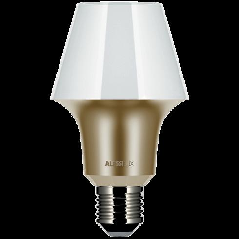 Лампочка AbatjourLED-лампочки<br>Дизайнеры Джованни Алесси Ангини и Габриэль Кьявэ внесли свою лепту в новое течение светодиодного освещения, создав удивительную лампочку Abatjour, которая отличается особой оригинальностью. Главная особенность модели заключается в том, что Abatjour представляет собой что-то среднее между классической лампочкой и светильником. Именно поэтому уникальная лампочка Abatjour может использоваться как в светильниках, так и отдельно, то есть без каких-либо абажуров.<br><br><br>Данный предмет освещения вы...<br>