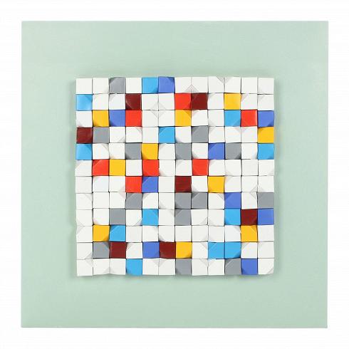 Картина PuzzleКартины<br>Картина Puzzle — кое-что до боли знакомое. Глядя на это дизайнерское панно от компании Cosmo, легко увидеть узнаваемую с детства игрушку-головоломку — кубик Рубика, первоначально известный как «Магический кубик». Названная по имени своего изобретателя игрушка завоевала симпатии обширной когорты почитателей, став одной из самых узнаваемых головоломок в конце прошлого столетия. Ну у кого из нас не было в детстве кубика? Дизайнеры компании Cosmo предлагают нам новый взгляд на детские воспомин...<br>