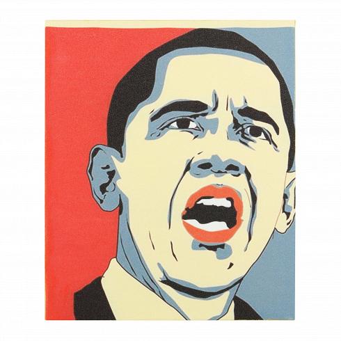 Картина ObamaКартины<br>Чаще всего современное колеблется в двух, а то и трех стилевых направлениях. Сходу и не скажешь, что собой представляет та или иная картина. Но одно можно сказать точно: благодаря декору интерьер выглядит свежее и актуальнее.<br> <br> Картина Obama выполнена в духе пропагандистских постеров прошлого столетия. Их использовали во время предвыборных компаний в качестве листовок и уличных плакатов. В каком же стиле выполнен этот постер — вопрос с подвохом. Однако оказавшись в современном интерьере в ...<br>