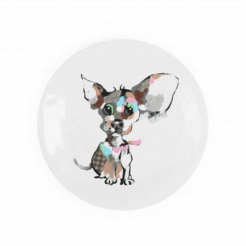 Декоративная тарелка PuppyНастенный декор<br>Декоративные тарелки — это необычный, хотя и вполне привычный способ украшения домашнего интерьера. Однако это украшение не стоит недооценивать, оно характерно не только для традиционного стиля в дизайне интерьера, но и запросто сможет интегрироваться в обитель современного типа.<br><br><br> Декоративная тарелка Puppy — это ярчайшее доказательство того, что они могут принадлежать не только традиционной классике, но и другим видам комнатного интерьера. В данном случае — это веселый молодежный ст...<br>