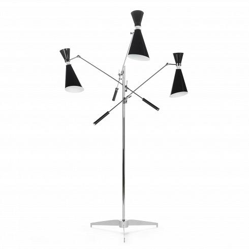 Напольный светильник StanleyНапольные<br>Напольный светильник Stanley — это три стильных торшера, соединенных в одной дизайнерской конструкции. Универсальноев стилевом отношении изделие станет изысканными стильнымштрихом в любой обстановке гостиной или спальной комнаты.<br><br><br> Дизайн модели светильника отсылает нас к стилю 50-х и 60-х годов. Изделие отлично подойдет для декорирования помещений в стиле модерн или хай-тек, о чем говорят формы и, конечно же, материалы.Конструкцияэтойлампы изготовл...<br>