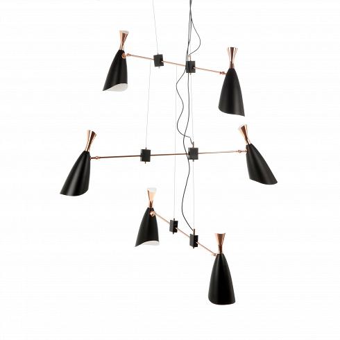Подвесной светильник DukeПодвесные<br>Duke — это широкий модельный ряд подвесных и напольных светильников, выполненных в едином строгом стиле. Все они представляют собой уникальные изделия, дизайн которых гармонично сочетает в себе традиции и новаторства дизайнеров многих поколений.<br><br> Дизайнеров светильника вдохновило творческое наследие джазового музыканта с мировым именем Дюка Эллингтона, творившего в середине прошлого века. <br><br> Подвесной светильникDuke — это осветительная лампа, выполненная стиле ар-деко. Это направле...<br>