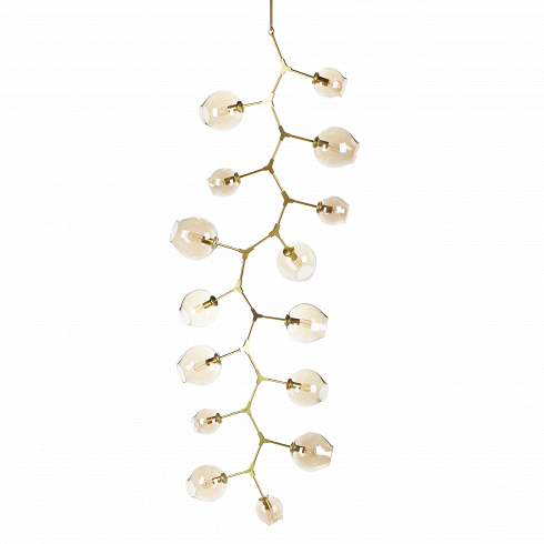 Подвесной светильник Branching Bubbles 15 лампПодвесные<br>Этот потолочный светильник не оставит равнодушными тех, кто стремится привнести частичку природы в свой дом. Он является настоящим хитросплетением форм и материалов: металлические крепления, напоминающие ветки, завершаются выдутыми вручную стеклянными плафонами. Светильник похож на цветущее дерево — это работаЛиндси Адельман, американского промышленного дизайнера, которая черпает свое вдохновение именно из выразительных природных сочетаний.<br><br><br> Потолочный светильник Branching Bubb...<br><br>DESIGNER: Lindsey Adams Adelman