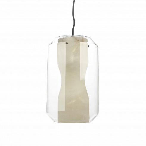 Подвесной светильник AquariumПодвесные<br>Стильное и модное освещение - это всегда 50 процентов успеха, оно задает тон всему интерьеру и насыщает теплой уютной атмосферой!<br><br><br> Подвесной светильник Aquarium - это дизайнерская лампа в современном стиле. Она отлично подойдет в качестве освещения интерьеров в стиле хай-тек, техно, минимализм и лофт. Благодаря внутренней вставке абажура, изготовленной из дорогого каррарского мрамора, свет мягко рассеивается и приятен для восприятия. Светильник отлично подойдет для ванной или...<br>