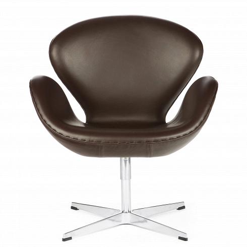 Кресло Swan кожаноеИнтерьерные<br>Дизайнер Арни Якобсен разрабатывал кресло Swan для техже целей, что икресло Egg, — для оформления гостиных Radisson Hotel вКопенгагене в1958 году. Обе эти оригинальные разработки родились вгараже дома Якобсена вКлампенборге, ксеверу отКопенгагена.<br><br><br> Кресло Swan было для Якобсена отличной возможностью реализовать собственные идеи вобласти дизайна иархитектуры напрактике. Для 1958 года кресло Swan было технологически инно...<br><br>DESIGNER: Arne Jacobsen
