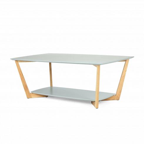 Кофейный стол BorderКофейные столики<br>Журнальный или кофейный стол — это постоянный атрибут любой современной гостиной. Это небольшой, но функциональный предмет мебели, который служит подставкой для светильника или пульта, а также столиком для сервировки небольшой трапезы.<br> <br> Кофейный стол Border подходит для использования в гостиных, оформленных в современном стиле.Нижнюю полку столика можно использовать для книг, в то время как столешница будет использоваться для напитков или ноутбука. Благодаря лакированной повер...<br>
