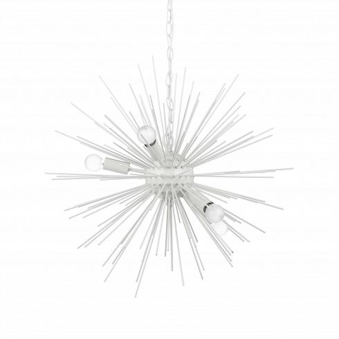 Подвесной светильник SputnikПодвесные<br>Подвесной светильник Sputnik — творение в стиле хай-тек, о чем говорит выбор материалов, форм и цвета. Высокотехнологичное исполнение также является тому подтверждением.<br> <br> Модель светильника исполнена в двух любимых цветах стиля хай-тек — черном и белом. Это универсальная цветовая база, которую легко сочетать как с яркими и сочными, так и с нейтральными цветами. Светильник прекрасно подходит и для кухонь, и для жилых комнат. Его легко комбинировать с другим комнатным освещением — люб...<br>