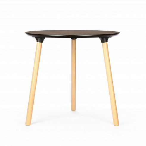 Обеденный стол Molasses диаметр 80Обеденные<br>Серия столов Molasses — это три модели, среди которых обеденные и кофейные столы. Названы они так по столешнице, которая имеет приятный теплый коричневый цвет и натуральную текстуру дерева. С английского molasses переводится как «патока». Это густой тягучий сироп,продукт неполного осахаривания крахмала. В стандартном представлении он имеет насыщенный кофейный цвет.<br> <br> Стол Molasses диаметр 80 — один из серии столов, дизайн которых представлен в двух цветовых вариантов. В зависимости о...<br>