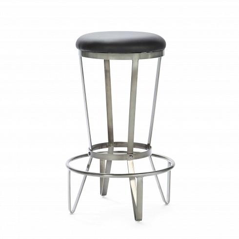 Барный стул JediБарные<br>Прочный, стальной, предельно простой и функциональный. Что еще нужно для барного стула в квартиру или в бар, гдевинтерьере господствуют необработанный кирпич, металлические перекрытия, заводские фонари — в общем, все атрибуты индустриального стиля.<br> <br> При этом табурет невыглядит слишком брутально, визуальная жесткость стального каркаса сглаживается глянцевойфактурой металла.Барный стул Jediссиденьем из мягкого полиуретанапридется по вкус...<br>