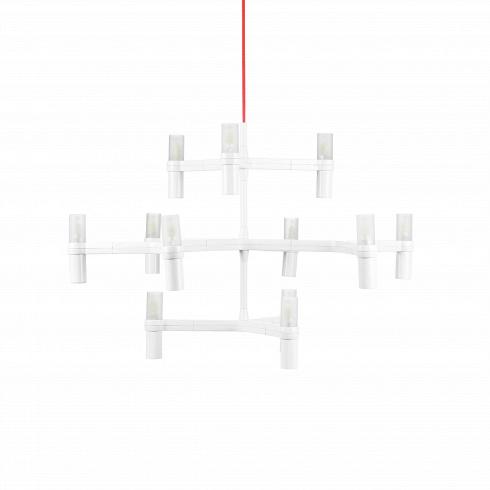Подвесной светильник CrownПодвесные<br>Подвесной светильникCrown - это экстраординарный дизайн, который с момента создания стал маленькой сенсацией в области интерьер-дизайна. Оно и не удивительно, светильник имеет все шансы стать запоминающейся легендой - его дизайн граничит с футуризмом и абстракционизмом. Между тем он не выглядит вычурным, поскольку по предусмотрению дизайнеров он окрашен в однородный белый цвет.<br> <br> Подвесной светильникCrown оснащен 12 небольшими LED-лампочками, обеспечивающими мягкий рассея...<br>