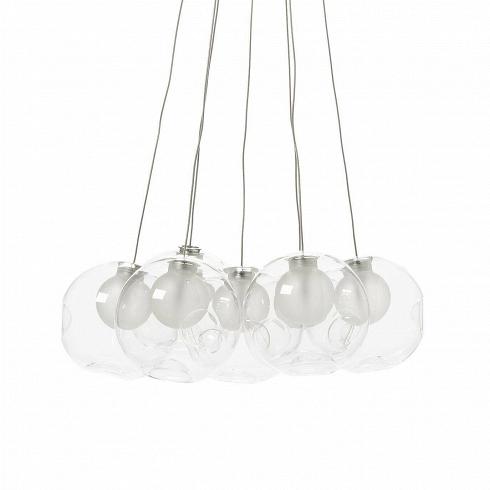 Подвесной светильник Round 7 лампПодвесные<br>Созданные Омером Арбелем (ориг. Omer Arbel) лампы илюстры чем-то напоминают настоящие новогодние шары. Творческий директор канадской компании Bocci сумел воплотить втаких простых осветительных приборах действительно уникальный дизайн.<br><br><br>Прежде всего, важен факт ручного производства этих ламп. Профессиональные мастера-стеклодувы используют всвоей работе исключительно переработанное вторично стекло, ведь Bocci всерьез обеспокоены состоянием окружающей среды. Лампы выпус...<br><br>DESIGNER: Omer Arbel