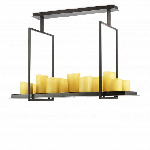 Потолочный светильник Altar 12 лампПотолочные<br>Гениальная идея Кевина Райлли: люстра, оживающая отмагического прикосновения свечи, очаровывающая своим простым дизайном ибалующая комфортом электрического света. Потолочный светильник Altar 12 ламп исполнен высочайшей элегантности ипогружает любое пространство впрекрасный и таинственный свет. Невероятным образом Райлли соединяет современный дизайн сшармом многовековой культуры освещения. <br><br><br> Дизайнерский потолочный светильник Altar 12 ламп выполнен из ст...<br><br>DESIGNER: Kevin Reilly