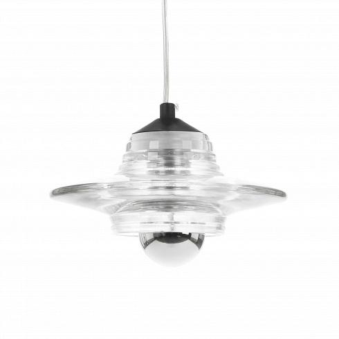 Подвесной светильник Pressed Glass LensПодвесные<br>Подвесной светильник Pressed Glass Lens – один из нескольких моделей серии Pressed Glass работы современного британского дизайнера Тома Диксона (Tom Dixon). Абажуры для этой серии прессуются на промышленных установках, которые гораздо чаще используются для создания автомобильных фар, чем светильников.<br><br><br> Прозрачный абажур позволяет свету беспрепятственно рассеиваться по помещению и создавать необычную игру света, отражаясь от рифлёной поверхности светильника.<br><br><br> Оригинальный дизайн...<br>