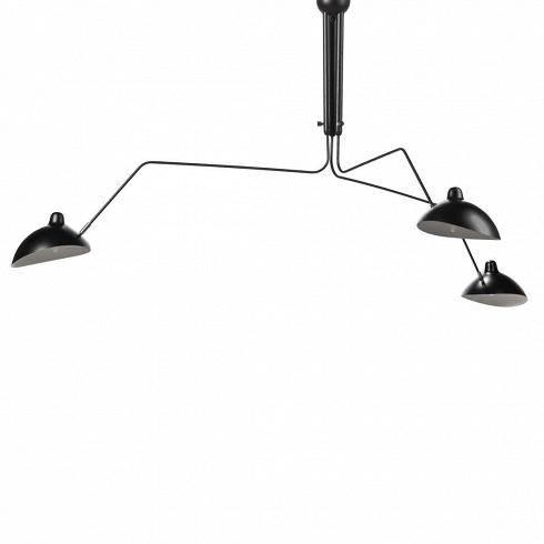 Потолочный светильник 3 Bras PivotantsПотолочные<br>Простой иэлегантный, этот потолочный светильник поставит стильный акцент винтерьере вашего помещения. Три вращающиеся игнущиеся «руки» разной длины слампами с легкостьюмогут быть повернутыпод любым удобным вам углом, изменив направление потока света. Центральное освещение более не является популярным в европейских домах и офисах. Пришло время для стильных дизайнерских светильников, изменивших подход в освещении помещений и создающих эффектное освещение,...<br><br>DESIGNER: Serge Mouille