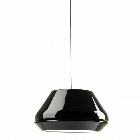 Подвесной светильник Spool диаметр 42Подвесные<br>Интересный дизайном своего абажураподвесной светильник Spool очень напоминает вазу для цветов. Но в сочетании с другими элементами интерьера, даже самая заурядная комната способна превратиться в комнату известного стилиста.<br><br><br> Мягкий рассеянный свет достигает путем отражения лучей о внутреннюю поверхность, но свет достаточно силен для освещения дальних углов помещения. Рассчитан светильник на одну лампу, черный акрил придает ему особого шика и элегантности, позволяя соч...<br>