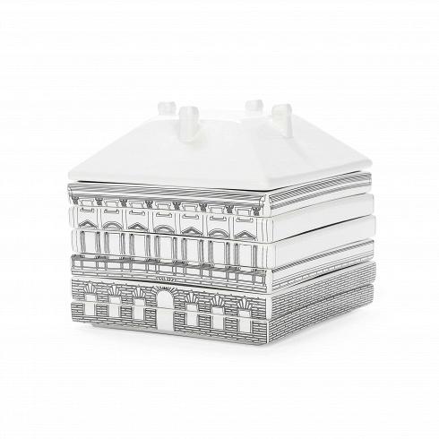 Набор посуды Palazzo BorgheseПосуда<br>Набор посуды Palazzo Borghese — еще один яркий иоригинальный проект, разработанный итальянским дизайнером Алессандро Дзамбелли позаказу компании Seletti. Производитель дизайнерской посуды компания Seletti вочередной раз разрушает стереотипы повседневности ирасширяет границы воображения. Архитектурный модульный сервиз на6 персон выстроен изфарфора встиле Флорентийского ренессанса.<br><br><br> Дворцы ибашни разбираются начашки, стаканы, та...<br>