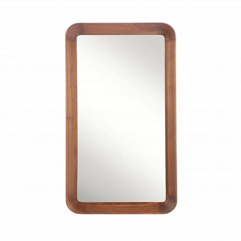Настенное зеркало Velodrome прямоугольноеНастенные<br>«Я буду долго гнать велосипед» — всплывает в голове строчка из популярного шлягера при взгляде на это геометричное зеркало с запоминающимся названием. Похожими ассоциациями руководствовался и его создатель, дизайнер из Канзаса Шон Дикс, который славится своими лаконичными творениями без лишних деталей.<br><br><br> Однажды он рассматривал фактурные следы от шин на велодроме и решил воссоздать поверхность и текстуру в контрасте гладкого стекла и чуть неровной и шероховатой натуральной рамы из де...<br><br>DESIGNER: Sean Dix