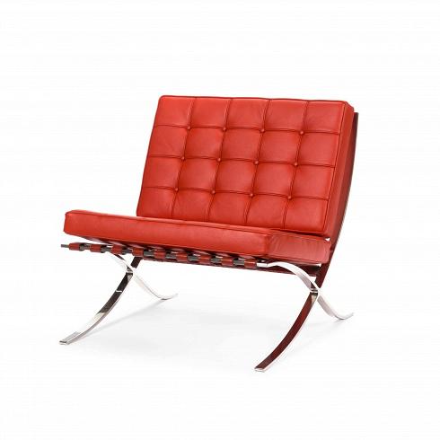 Кресло Barcelona 1Интерьерные<br>Как так могло получиться, что кресло, созданное 80 лет назад, до сих пор остается для современной мебели иконой стиля? Кресло Barcelona 1 разрабатывалось для испанской королевской семьи, однако не оказалось востребованным, но нашло своего потребителя уже в новейшее время.<br><br><br> Дизайн кресла был результатом сотрудничества Лили Рейх и Людвига Миса ван дер Роэ. В 1960-е годы это кресло заняло свое заслуженное и почетное место в кабинетах банков, крупных компаний по всему миру и стало иконо...<br><br>DESIGNER: Ludwig Mies van der Rohe