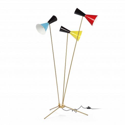 Напольный светильник Stilnovo Style 3 лампыНапольные<br>Напольный светильник Stilnovo Style 3 лампы — это яркий и веселый светильник американской компании Stilnovo, которая воспроизводит лампы самых известных дизайнеров XX века и создает новые, необычные осветительные приборы.<br><br><br> Этот светильник отличается своим цветовым исполнением. Три разноцветных абажура, выкрашенных в самые яркие и сочные цвета, обязательно будут поднимать вам настроение в холодный зимний день или дождливую пасмурную осеннюю погоду. Голубое небо, летняя зелень, краснот...<br>
