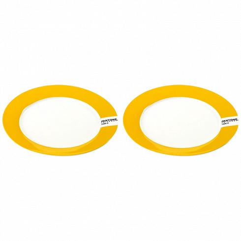 тарелка PANTONE, сет 2 шт. (B7614010_SET)Посуда<br>Артикул: B7614010_SET. Какие требования предъявляют к современным тарелкам? Соответствие назначению, качество используемого материала и красивый дизайн. Всем этим критериям в полной мере отвечают тарелки PANTONE для закусок и десерта. Лаконичная круглая форма, интенсивный желтый цвет и применение фарфора - 3 составляющих успеха этой посуды. Удивите гостей – сервируйте праздничный стол тарелками PANTONE. Дизайн: Serax, Бельгия.<br>