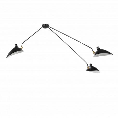Потолочный светильник Spider 3 лампыПотолочные<br>Потолочный светильник Spider 3 лампы — это меньшая из двух моделей потолочного светильника, созданного в 1953 году французским промышленным дизайнером по имени Серж Муй.<br><br><br> Серж Муй — один из самых известных и титулованных дизайнеров своего времени. Спустя два года после создания этого светильника он стал членом Общества художников и Французского национального художественного общества, завоевал множество наград, а сейчас его работы выставляются в галерее Стефа Симона в Париже. Коллекци...<br><br>DESIGNER: Serge Mouille