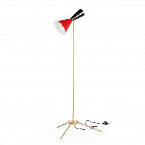 Напольный светильник Stilnovo Style 1 лампаНапольные<br>Напольный светильник Stilnovo Style 1 лампа — это яркий и веселый светильник американской компании Stilnovo, которая воспроизводит лампы самых известных дизайнеров XX века и создает новые, необычные осветительные приборы.<br><br><br> Этот светильник отличается своим цветовым исполнением. Абажур выкрашен в яркий цвет, который обязательно будет поднимать вам настроение в холодный зимний день или дождливую пасмурную осеннюю погоду. Краснота спелых яблок будто живет в этом веселом творении компании...<br>