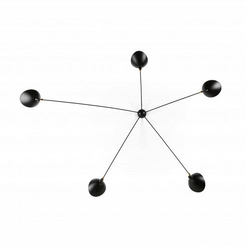 Настенный светильник Spider 5 лампНастенные<br>Настенный светильник Spider 5 ламп — это большая модель светильника, созданного в 1953 году французским промышленным дизайнером по имени Серж Муй.<br><br><br> Серж Муй — один из самых известных и титулованных дизайнеров своего времени. Спустя два года после создания этого светильника он стал членом Общества художников и Французского национального художественного общества, завоевал множество наград, а сейчас его работы выставляются в галерее Стефа Симона в Париже. Коллекция, к которой принадлежи...<br><br>DESIGNER: Serge Mouille