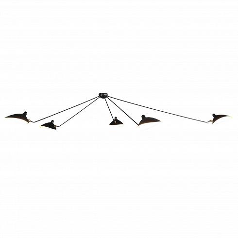 Потолочный светильник Spider 5 лампПотолочные<br>Потолочный светильник Spider 5 ламп — это большая модель потолочного светильника, созданного в 1953 году французским промышленным дизайнером Сержем Муем.<br><br><br> Серж Муй — один из самых известных и титулованных дизайнеров своего времени. Спустя два года после создания этого светильника он стал членом Общества художников и Французского национального художественного общества, завоевал множество наград, а сейчас его работы выставляются в галерее Стефа Симона в Париже. Коллекция, к которой при...<br><br>DESIGNER: Serge Mouille