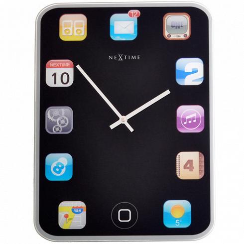 настенные часы WALLPAD (3022)Часы<br>Артикул: 3022. Дизайн этих ультрасовременных часов в январе 2012 года получил приз на выставке Maison &amp; Objet в Париже. Использование популярной иконографии Apple и доступность данной модели широкому кругу ее почитателей были оценены жюри по достоинству. Если вы следите за модными новинками в сфере технического прогресса, эти часы созданы для вас! Дизайн: Nextime, Нидерланды.<br>
