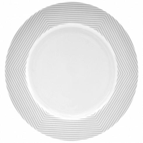 тарелка MALVERN (BAM38577)Посуда<br>Артикул: BAM38577. Сочные и яркие оттенки летних блюд подчеркнут белоснежную изысканность тарелки MALVERN. На такую тарелку поместится все разнообразие приготовленных закусок. Поиграть с сервировкой в стиле инь и янь можно, заказав набор суповых тарелок серого цвета. Дизайн: Salt&amp;Pepper, Австралия.<br>