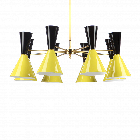 Потолочный светильник Stilnovo StyleПотолочные<br>Потолочный светильник Stilnovo Style — это яркий и веселый светильник американской компании Stilnovo, которая воспроизводит лампы самых известных дизайнеров XX века и создает новые необычные осветительные приборы.<br><br><br> Этот светильник отличается своим цветовым исполнением. Восемь абажуров, выкрашенных в самые яркие и сочные цвета, обязательно будут поднимать вам настроение в холодный зимний день или дождливую пасмурную осеннюю погоду. Ослепительные белые лучи солнца или насыщенный желтый...<br>