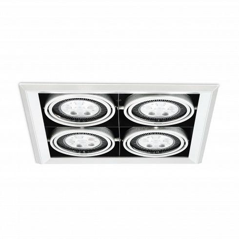 Встраиваемый потолочный светильник Grille Lamp 4Встраиваемые<br>Встраиваемый потолочный светильник Grille Lamp 4<br>— прекрасное решение 21-го века для освещения пространства.<br><br><br><br>Чрезвычайно универсальной встраиваемый потолочный светильник Grille Lamp 4 может найти применение для любого пространства, включая современные столовые, кухни, гостиные, рестораны, залы, ибольше.<br>