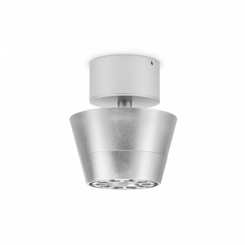 Потолочный светильник RonПотолочные<br>Потолочный светильник Ron — это отличное решение для тех, кто любит максимальную свободу пространства и лаконичность форм. Выполненный из алюминия абажур светильника отличается компактными габаритами. Прибор оснащен пятью встроенными лампами Cree LED, которые по максимуму наполнят пространство светом. Металлический блеск светильника внесет свежую ноту в интерьер, придаст ему некий шарм и солидность. Сдержанный стиль осветительного прибора определенно будет уместен в офисном помещении.<br><br><br>...<br>