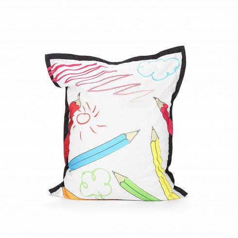 Пуф Colour PencilsПуфы и оттоманки<br>Пуф Colour Pencils (в переводе с английского — «цветные карандаши») — это оригинальный предмет интерьера, который станет великолепным дополнением для дома творческого человека, уютной студии или детской комнаты. Пуф имеет яркий веселый рисунок, который придает ему несерьезный и необычайно привлекательный вид. Кроме того, гармоничные цвета рисунка позволяют использовать пуф в сочетании практически с любой цветовой гаммой интерьера.<br><br><br> Пуф Colour Pencils имеет EPS-наполнитель, который изв...<br>
