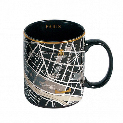 Кружка ParisПосуда<br>Кружка Paris — это кружка, украшенная изображением территории города Парижа спригородами. Она выполнена вчерном цвете сзолотыми элементами. Кружка входит вколлекцию издевяти дизайнерских кружек сизображением крупных городов совсего мира.<br><br><br><br><br><br><br> Дизайнерские тарелки изсоответствующей коллекции делают эти кружки просто идеальной столовой комбинацией, подходящей как для завтрака, так иобеда иужина внепринужденной об...<br>