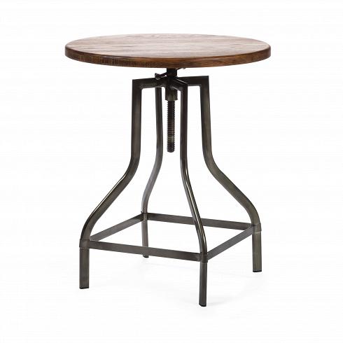 Барный стол Tulip PlockБарные<br>Представьте себе аромат горького кофе, спокойную музыку, мягкий свет. Кирпичные стены, кованые подсвечники и круглый винтажный столик — уютно, спокойно, можно с удовольствием расслабиться, отдыхая после рабочего дня. Изготовленный в индустриальном стиле барный стол Tulip Plock сочетает в себе холод металла и теплоту дерева, он станет одним из тех важных элементов интерьера, благодаря которым в доме появляется особенная атмосфера.<br><br><br> Столешница круглой формы из натуральной ивы получила...<br>